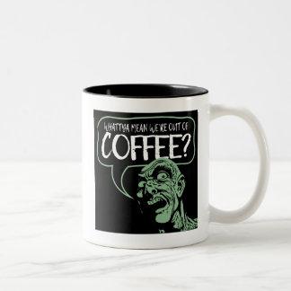 WIR sind AUS KAFFEE heraus? Lustige Zweifarbige Tasse