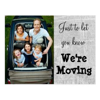 Wir sind bewegliches graues Foto-neue Postkarte