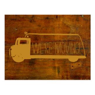 Wir sind bewegliches Retro bewegliches altes Holz Postkarten