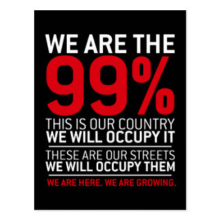 Wir sind das 99% - 99-Prozent-Occupy Wall Street Postkarte