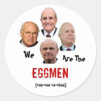 Wir sind das Eggmen Runder Aufkleber