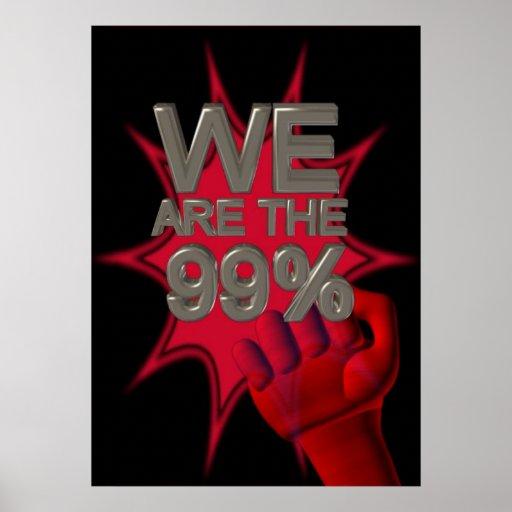 Wir sind die 99% besetzen Bewegungsfaustplakat/-ze