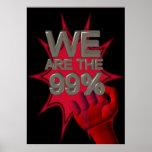 Wir sind die 99% besetzen Bewegungsfaustplakat/-ze Plakate