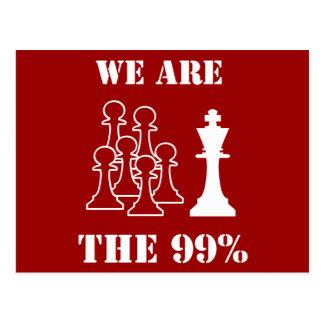 Wir sind die 99% postkarte