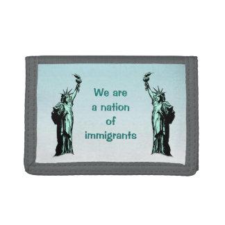 Wir sind eine Nation der Immigrant-Geldbörse