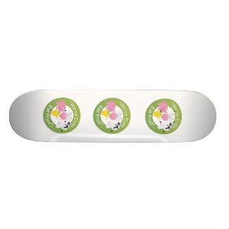 Wir sind, essen FruchtSkateboard niedlich Personalisierte Skatedecks