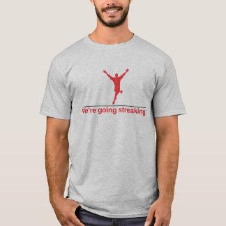 Wir sind gehendes Streifen T-Shirt