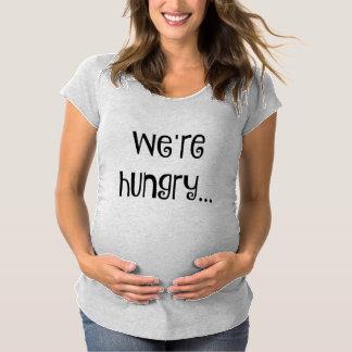 """""""Wir sind hungriges"""" MutterschaftsShirt Schwangerschafts T-Shirt"""