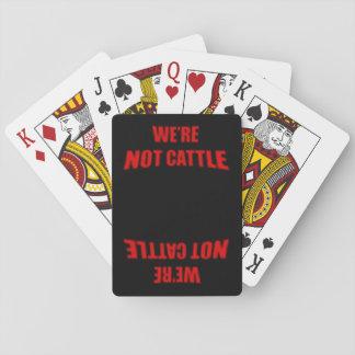 Wir sind nicht Vieh Pokerkarten