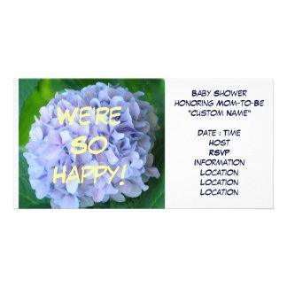 Wir sind so glücklich! Babyparty-Gewohnheits-Einla Photokarte