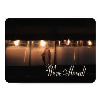 Wir sind umgezogen!    Brennende Kerzen 12,7 X 17,8 Cm Einladungskarte