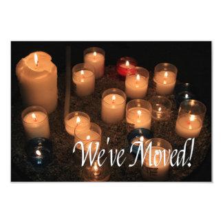 Wir sind umgezogen!    Brennende Kerzen 8,9 X 12,7 Cm Einladungskarte