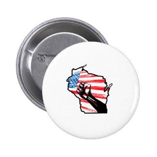 Wir sind Wisconsin Runder Button 5,1 Cm
