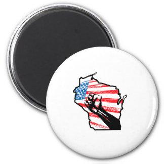 Wir sind Wisconsin Runder Magnet 5,1 Cm