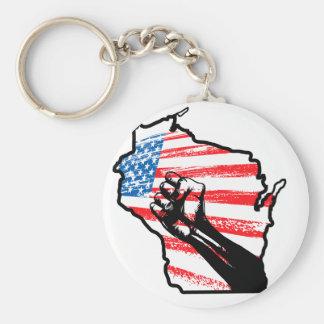 Wir sind Wisconsin Standard Runder Schlüsselanhänger