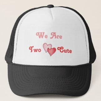 Wir sind zwei niedlich - Herzen Truckerkappe