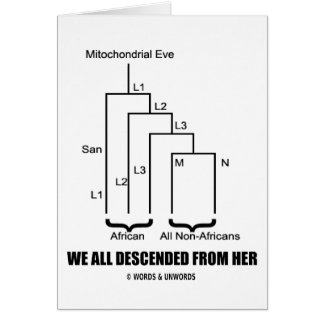 Wir stiegen ganz von ihr ab mitochondrisches Eve Karte