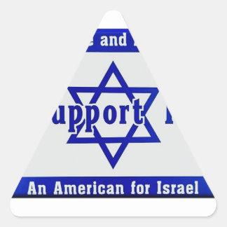 Wir stützen Israel Dreieckiger Aufkleber