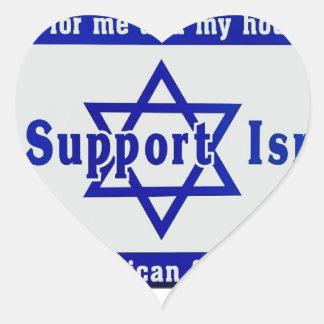 Wir stützen Israel Herz-Aufkleber