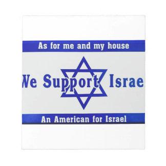 Wir stützen Israel Notizblock