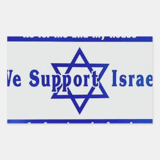 Wir stützen Israel Rechteckiger Aufkleber