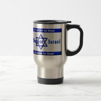 Wir stützen Israel Reisebecher