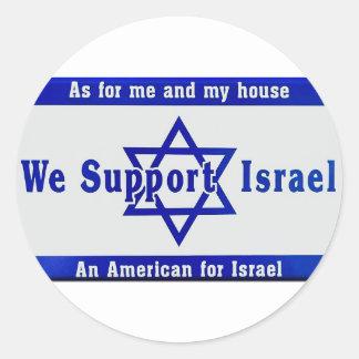 Wir stützen Israel Runder Aufkleber