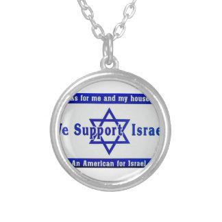Wir stützen Israel Versilberte Kette