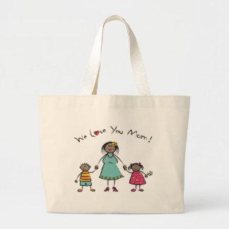 Wir Tag der Liebe-Sie Mamma-Cartoon-Familien-der Jumbo Stoffbeutel
