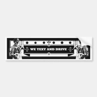 Wir Text und Antrieb Autoaufkleber