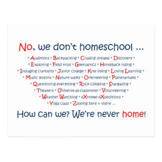 Wir tun nicht Homeschool Postkarte
