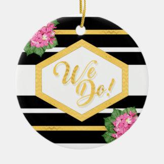 WIR TUN Weihnachtsbaum-Feiertags-oder Rundes Keramik Ornament