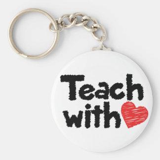 Wir unterrichten mit Herzen! keychain Schlüsselanhänger