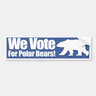 Wir wählen für polare Bärn-Autoaufkleber Autoaufkleber