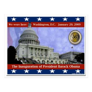 Wir waren hier - Einweihung 2009 von Barack Obama Postkarte