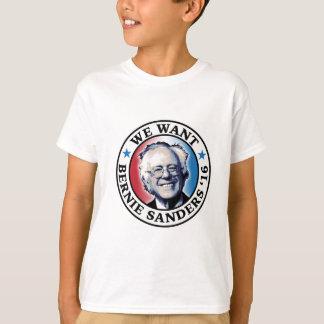 Wir wollen Bernie-Sandpapierschleifmaschinen 2016 T-Shirt