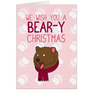 Wir wünschen Ihnen ein Bär-y Weihnachten Karte
