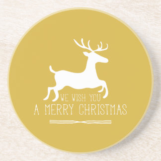 Wir wünschen Ihnen ein Gold der frohen Weihnacht-| Untersatz
