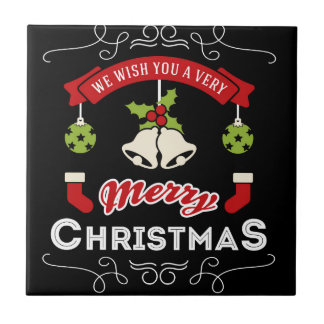 Wir wünschen Ihnen einen frohe Weihnacht-Gruß Keramikfliese