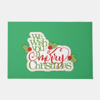 Wir wünschen Ihnen frohen Weihnachten Türmatte