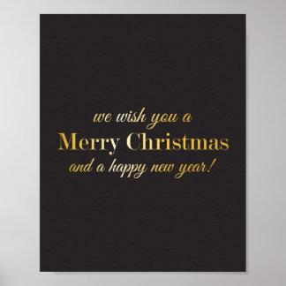 Wir wünschen Ihnen frohen Weihnachten und ein Plakatdruck