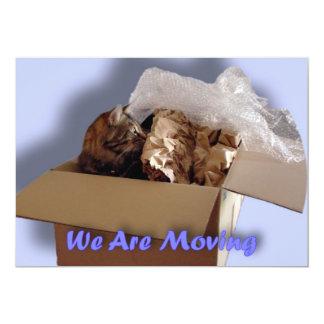 Wir ziehen um. Verlagern. Neue Adresse. Neues 12,7 X 17,8 Cm Einladungskarte