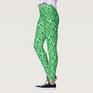 Wirbel des Grüns Leggings