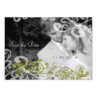 Wirbel Ihre Foto-Hochzeits-Einladung 12,7 X 17,8 Cm Einladungskarte