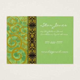 Wirbel und Klee und Kleeblätter reichlich Jumbo-Visitenkarten