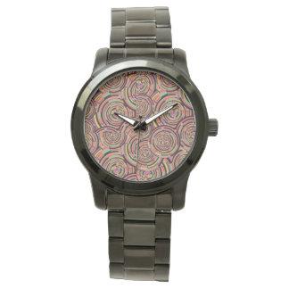 Wirbel und Kreise Armbanduhr