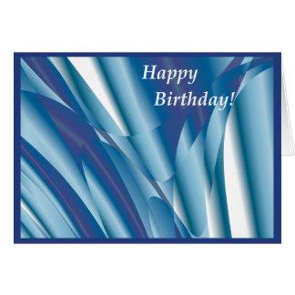 Wirbelnde blaue abstrakte Geburtstags-Karte Karte