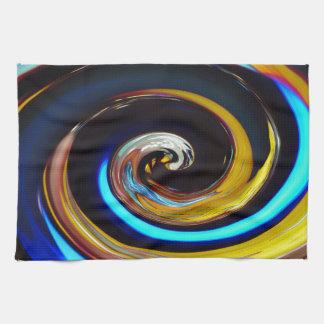 Wirbelnde Farben, Wirbelnde Farben Geschirrtuch