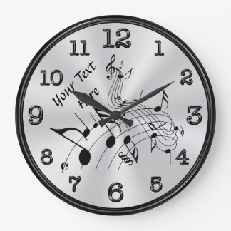 Wirbelnde personalisierte Musik-Anmerkungs-Uhr, Große Wanduhr