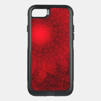 Wirbelndes abstraktes rotes Gänseblümchen